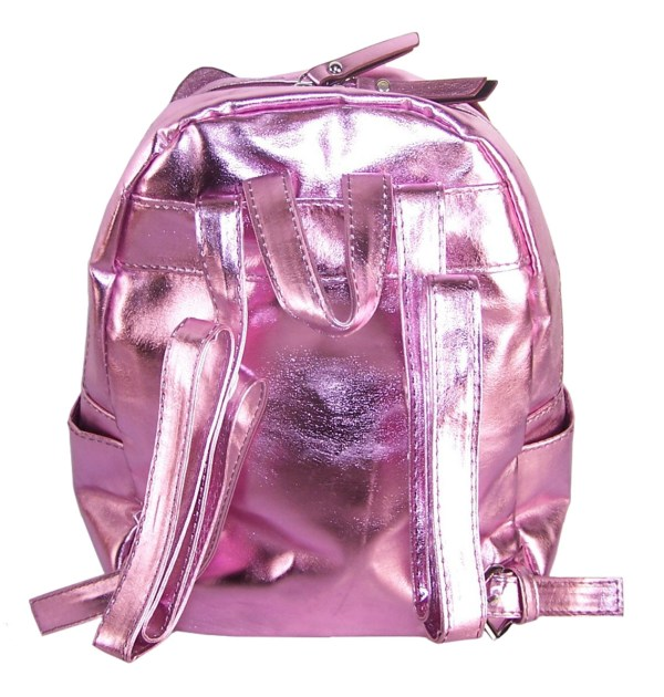 Girls pink PU and glitter bunny mini backpack-6049