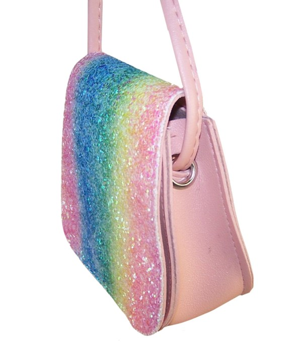 Girls sparkly rainbow glitter small bag-6109