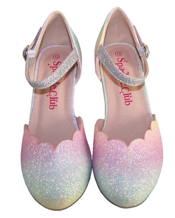 Girls pastel rainbow colours sparkly shoes - Gift Set -6153