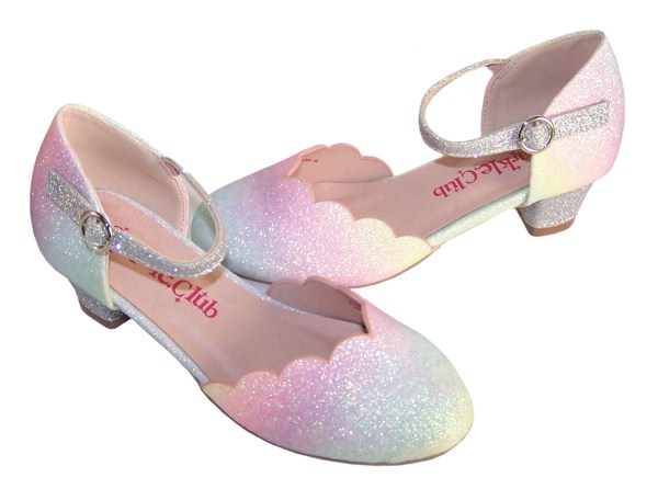 Girls pastel rainbow colours sparkly shoes - Gift Set -6154
