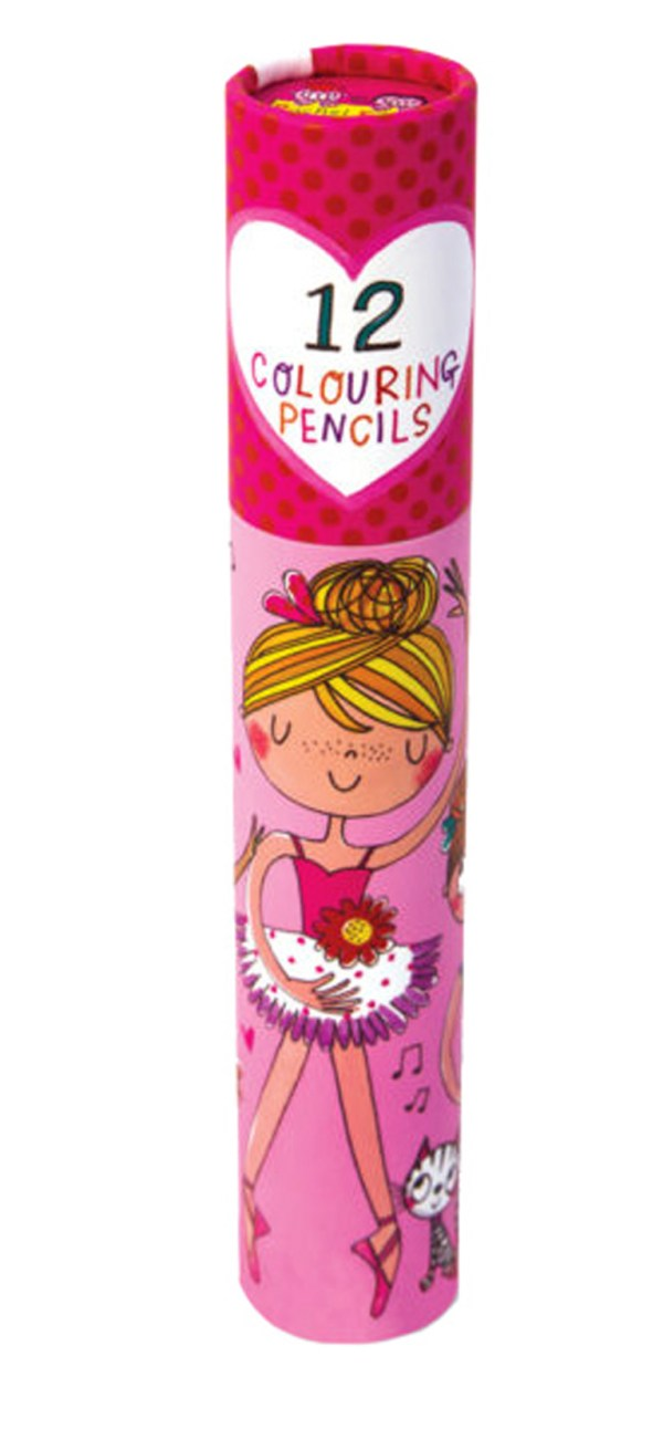 Ballerina colouring pencil set-0
