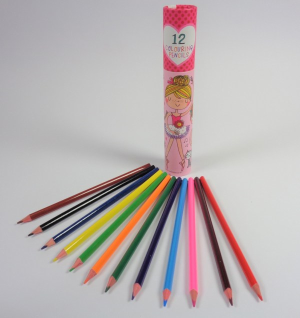 Ballerina colouring pencil set-6596
