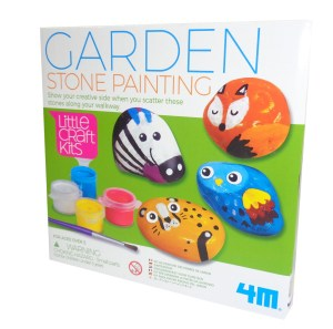 Childs garden stone painting craft kit