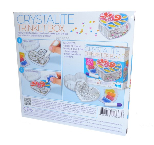 Childs crystalite trinket box craft kit-6575