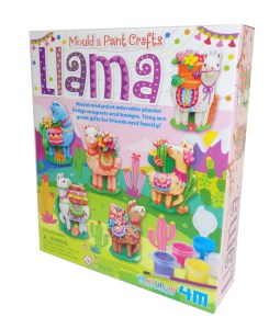 Childs mould and paint Llama craft kit