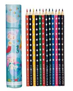 Mermaid theme colouring pencil set