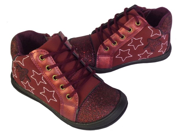 Infants red sparkly boots