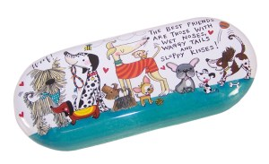 Childs Glasses case with Cartoon Dogs and Puppies