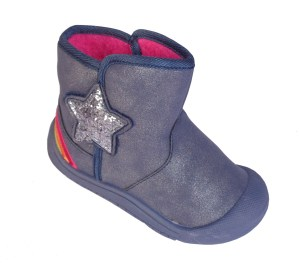 Infant girls blue sparkly ankle boots