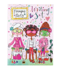 Childrens pamper party writing set