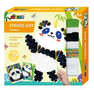 Childrens Panda string art craft kit