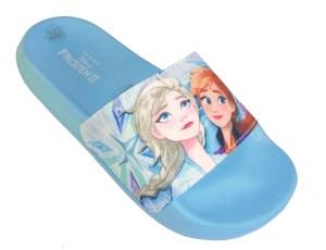 Girls blue Frozen character slider sandals