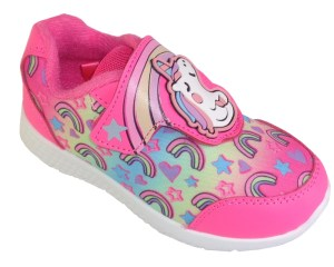 Young girls pink Unicorn canvas trainers