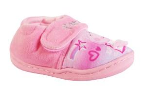 Girls pink peppa pig slippers 3D mesh dress