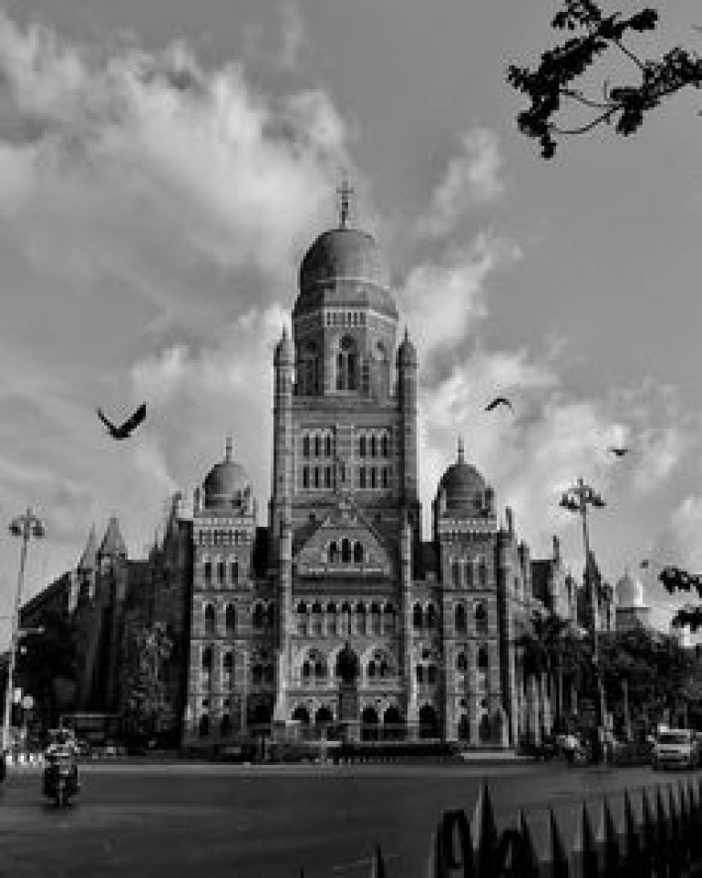 Black and White Photo of BMC Building