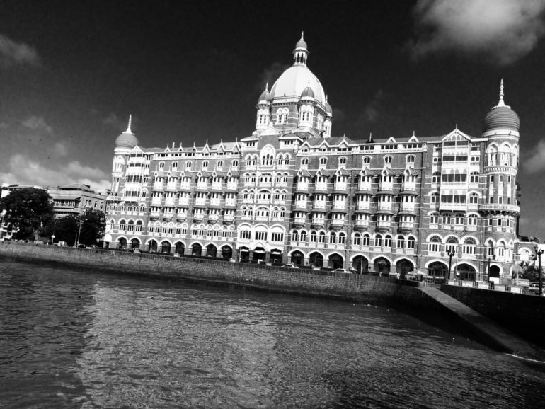 Black and White Image of Taj Mahal Palace Hotel, Mumbai