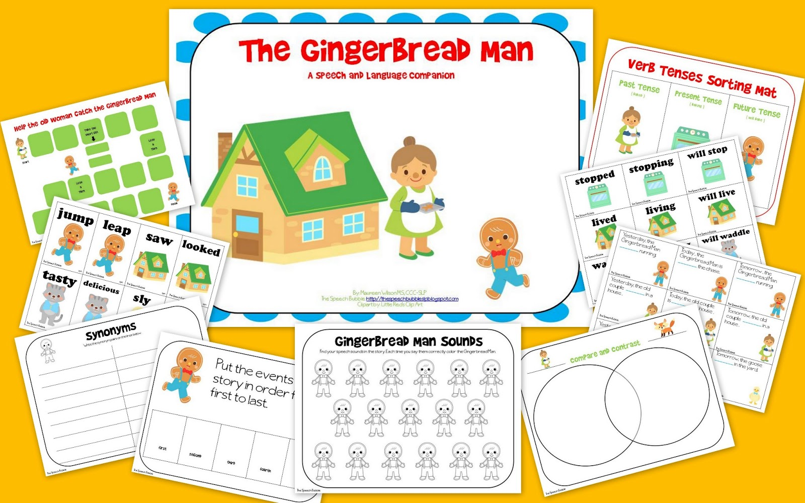 The Gingerbread Man Speech And Language Book Companion