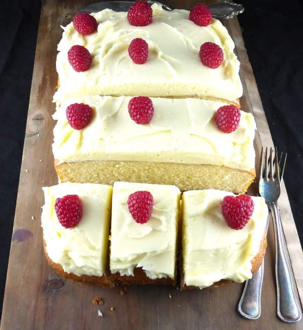 Picture of Simple White Chocolate Cake with White Chocolate Buttercream Frosting