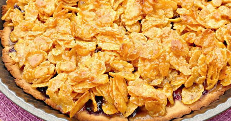 School Dinner Cornflake and Jam Tart (gluten free)