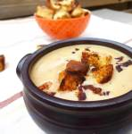 Roasted Cauliflower Red Pepper Soup Homemade Croutons