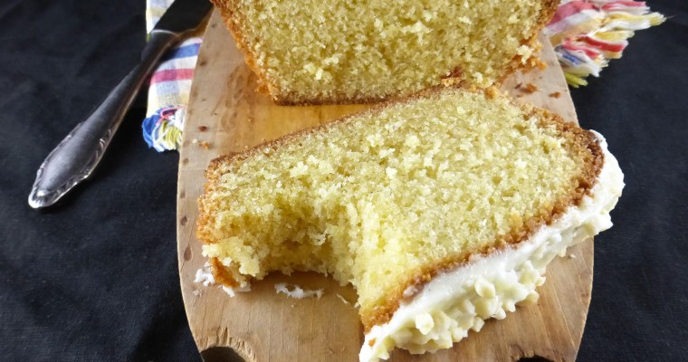 Simple Spelt Madeira Cake with a Cream Cheese Frosting