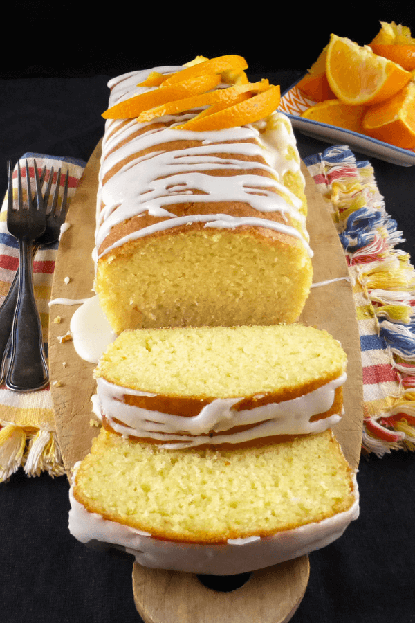 This orange drizzle spelt loaf cake is surprisingly soft and moist. There\'s also less fat and sugar than regular cakes, too!