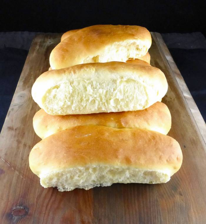 picture of homemade hot dog bread