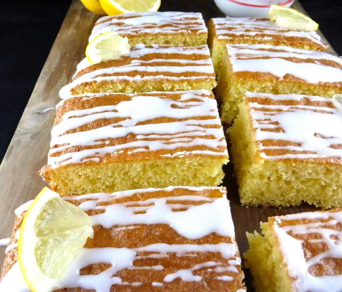 Simple Spelt Lemon Traybake with Lemon Icing