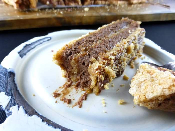 close up of chocolate mocha dessert