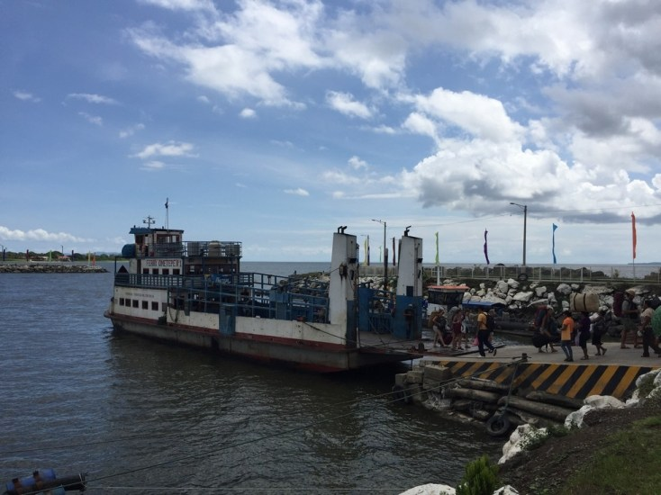 Our rickety ferry