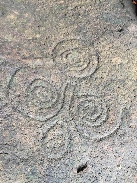 Petroglyph - characteristic swirls