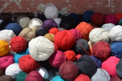 Colourful wool