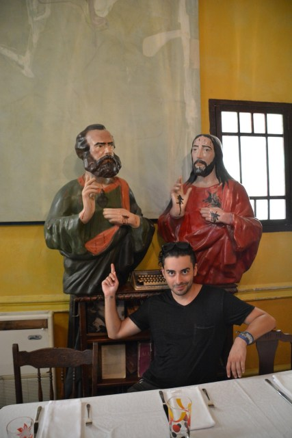 All the most important people; Marx, Alex and Jesus