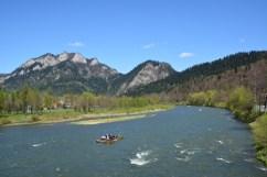 Natural river border between Slovakia and Poland