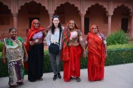 Jess with cheerful tattooed tribe ladies