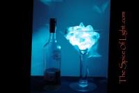 Oversized Decorative Blue Martini Glass, Himalayan salt ...