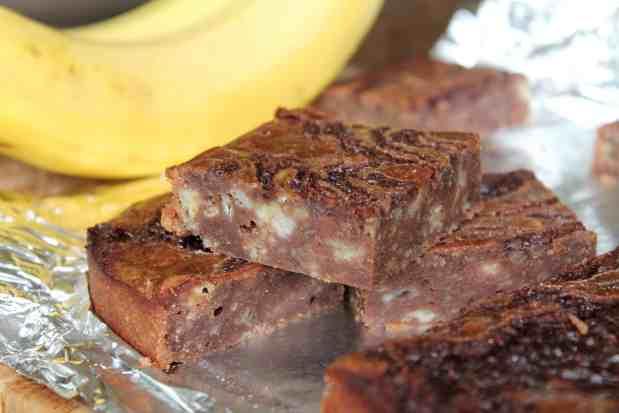 Banana Bread Brownies 2