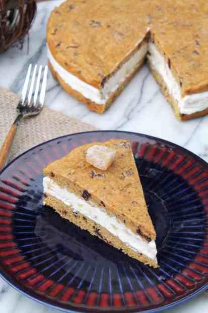 Pumpkin & Ginger Ice Cream Sandwich Cookie Cake 4
