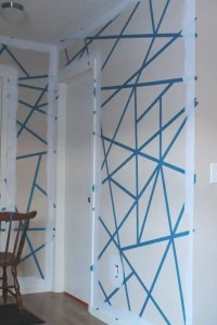 DIY Painter's Tape Accent Wall   The Spiffy Cookie