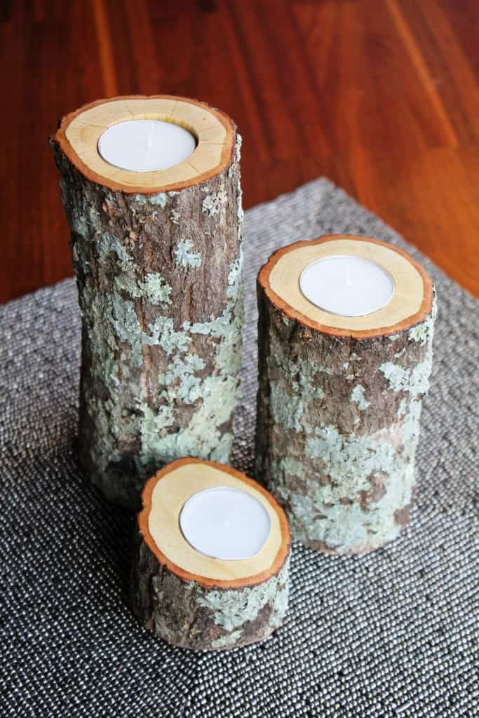 DIY Wood Candle Holders  The Spiffy Cookie