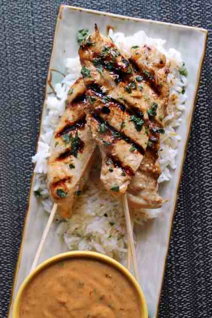 Chicken Satay with Spicy Peanut Sauce & Coconut-Ginger Rice 2