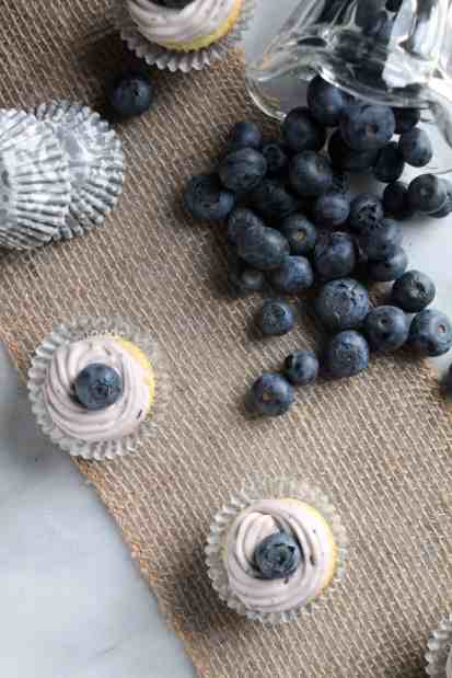 Mini Lime Cupcakes with Blueberry Frosting 2