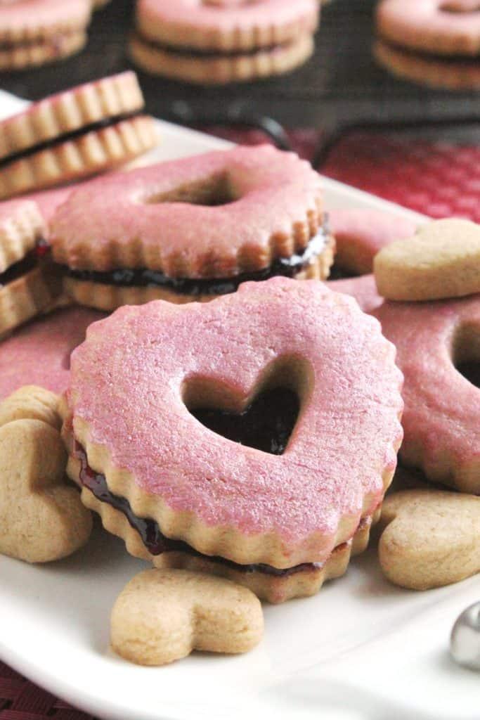 Peanut Butter & Jelly Linzer Cookies