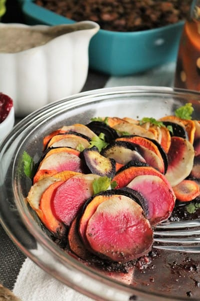 Roasted Root Vegetables #roastedveggies #sidedish