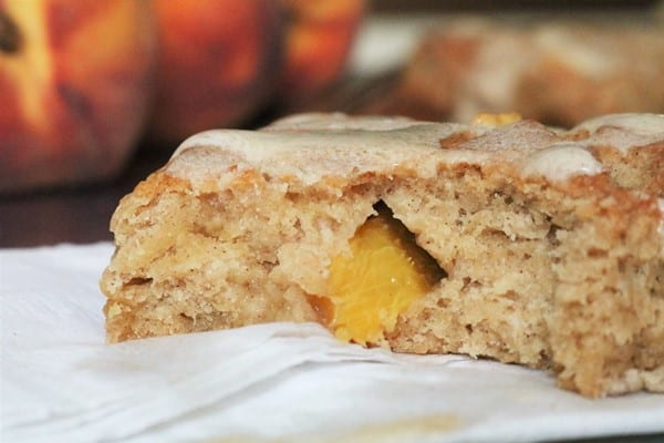 Brown Butter Glazed Peach Scones #peachrecipe