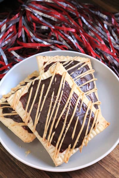 Peanut Butter #PopTart with Chocolate Glaze #breakfast