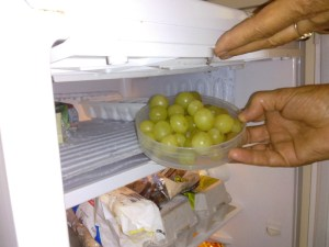 Frozen grapes: a real treat