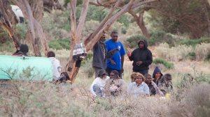 Aboriginal people drinking just outside Ceduna