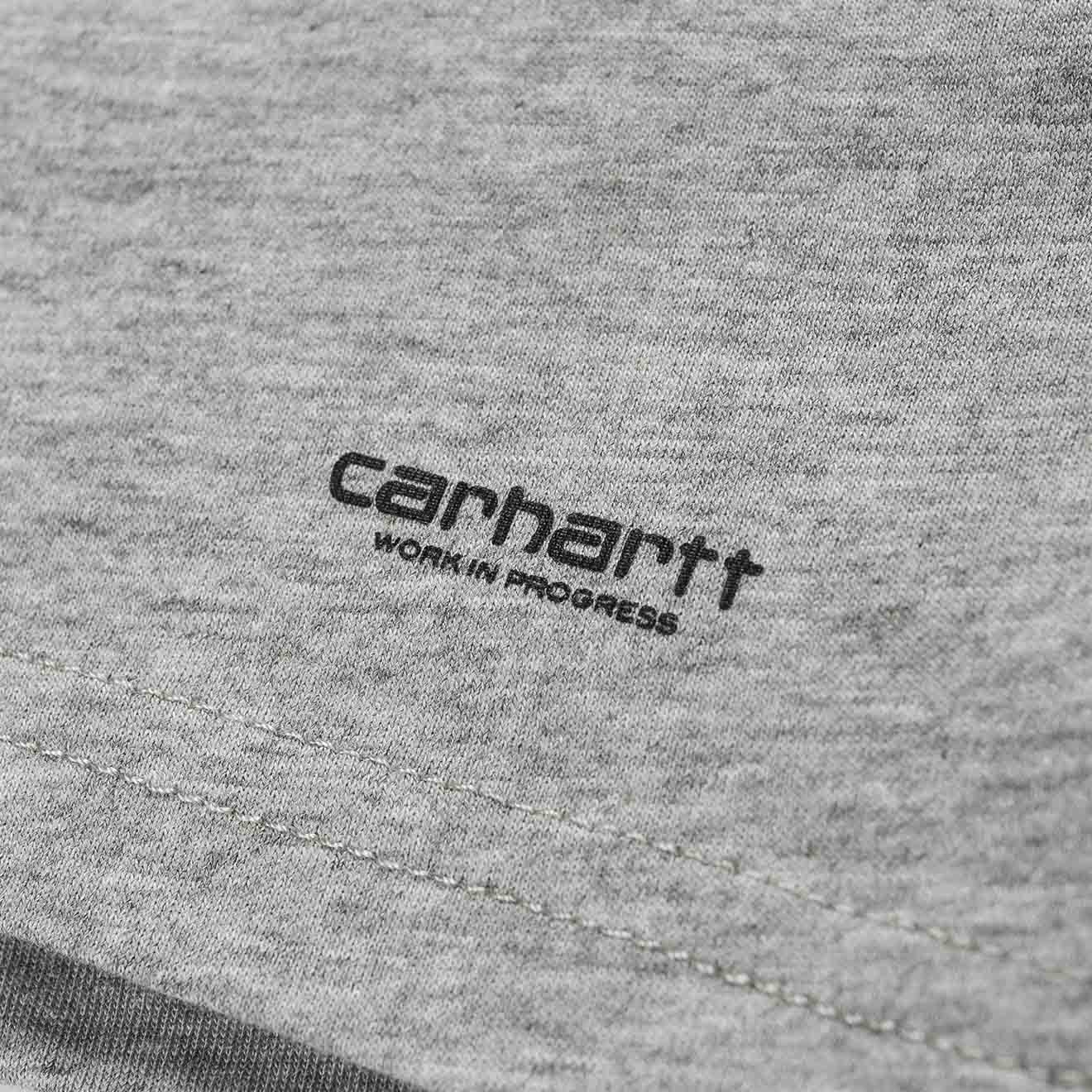 Carhartt Crew Neck T Shirt 2 Pack White And Grey Heather