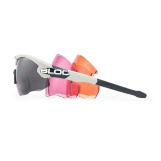 Bloc Hulk HB4 Shooting Safety Glasses with 3 Lenses Silver Frame
